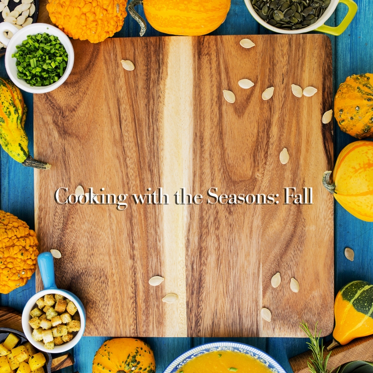 Traditional seasonal pumpkin soup, space for text
