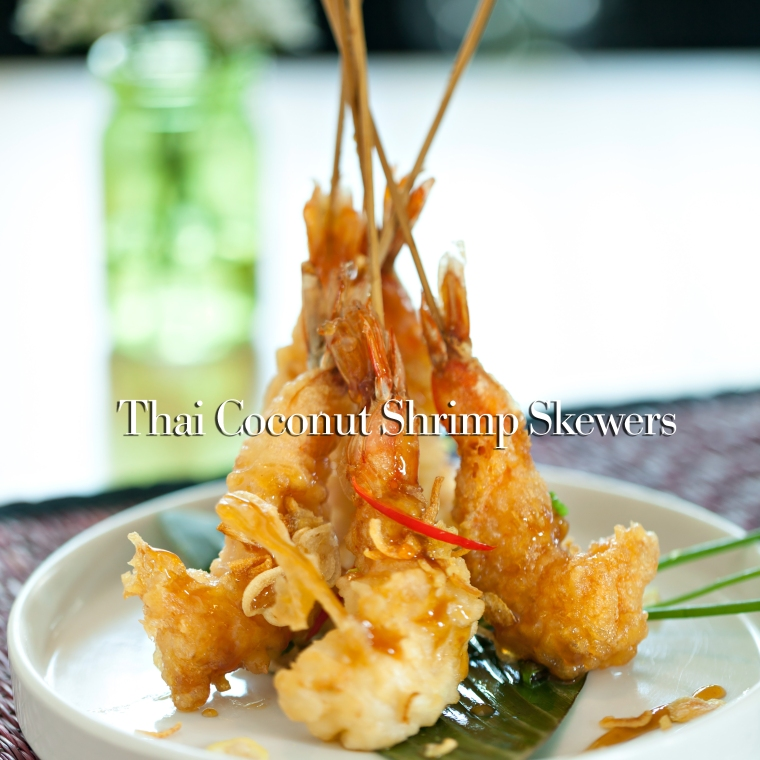 Thai Tempura Shrimp Skewers