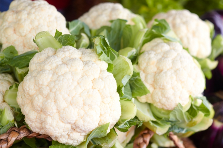Fresh And Cauliflowers For Sale In the Market