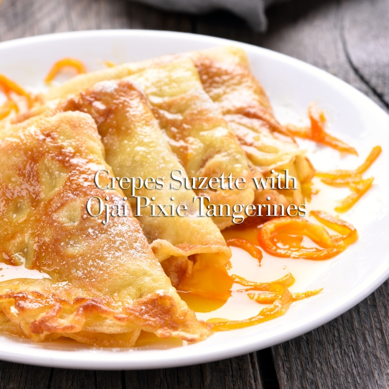 Crepes Suzette, close up view