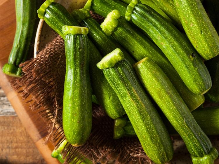 Raw Green Organic Baby Zucchini
