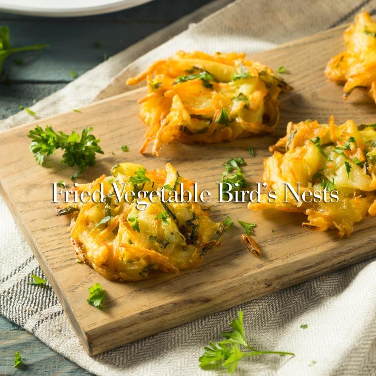 Homemade Fried Vegetable Birds Nests