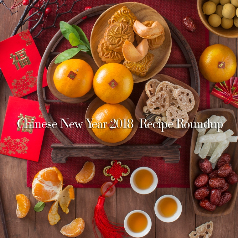 Chinese new year food and drink still life.